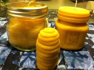 Beeswax candles from my hives