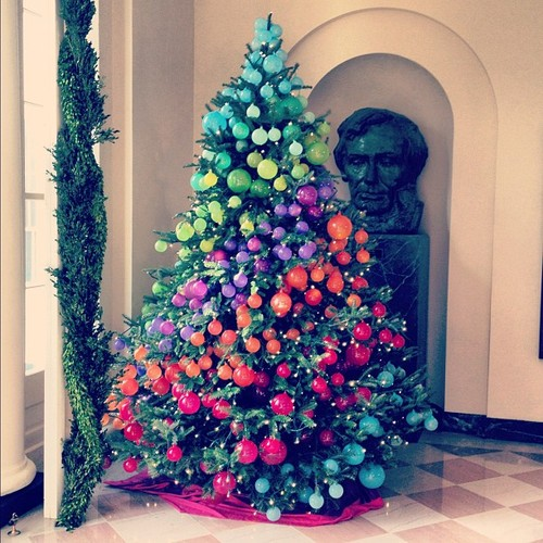 Rainbow Christmas Trees: Decorating The White House For Christmas-Part 1