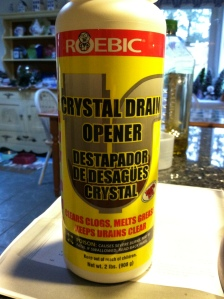 Commercial lye which is also used as a drain cleaner- very toxic!!!!