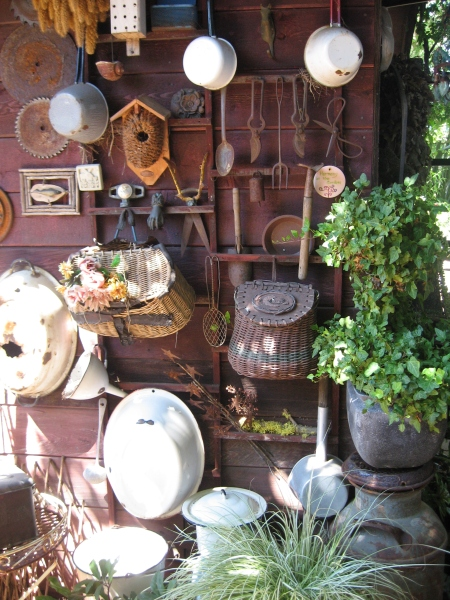 The back of Rebecca Sweet's shed is covered with artifacts