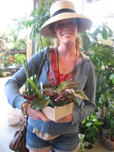 Delen Kitchen of Plant Propaganda with her treasures at Flora Grub http://www.plantpropaganda.com/