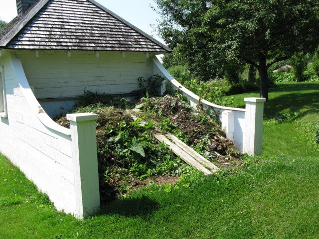 Compost pile at Quattre Vents, Quebec