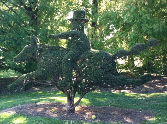 Ladew Topiary gardens horse and rider