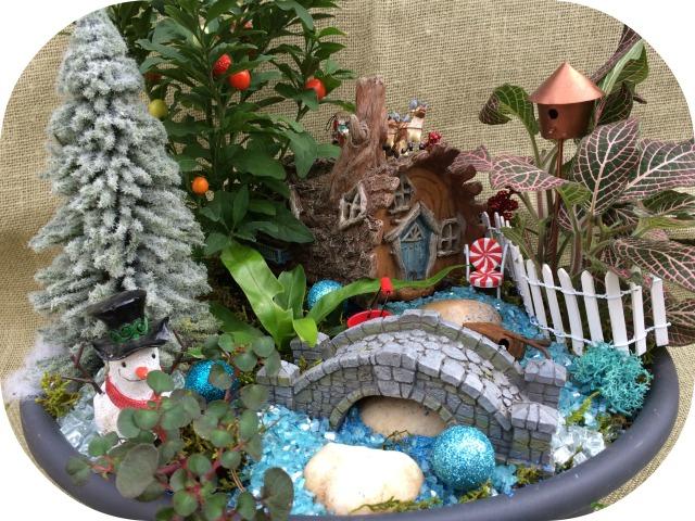 Mini dish Christmas garden