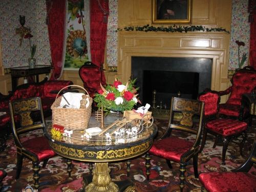 Decorated table at Hampton