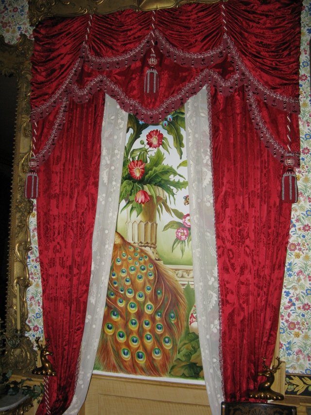 Peacock hand painted screen