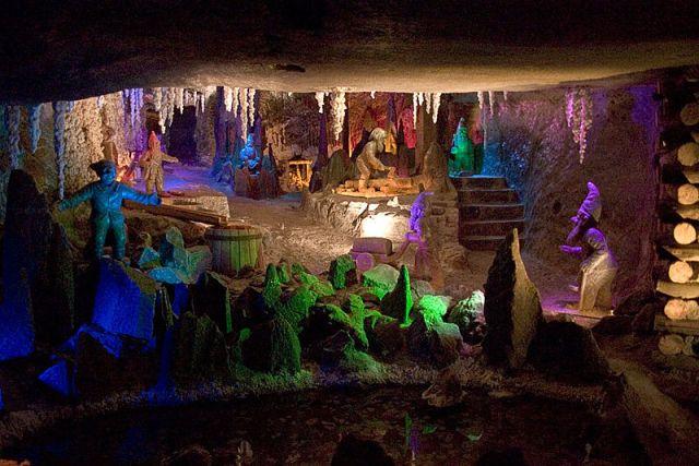 Gnomes in Kunegunda Shaft Bottom of the Wieliczka Salt Mine in Poland, photo by Adam Kumiszcza