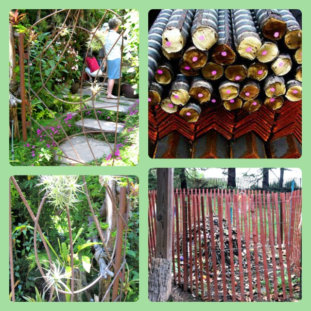 Rebar has many uses in the garden