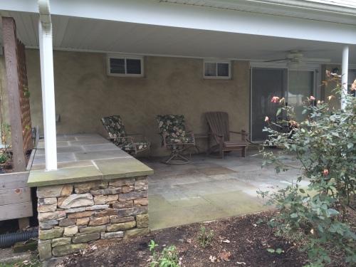 Lower patio area
