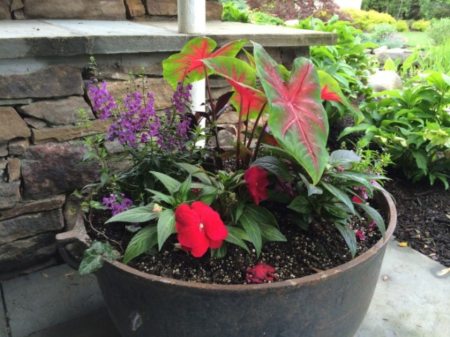Shade container under the lower patio