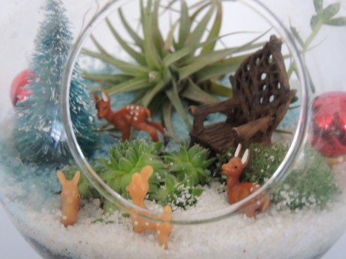 I love this little footed terrarium for tiny scenes
