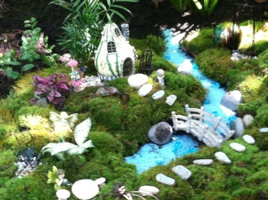 A fairy garden in the landscape