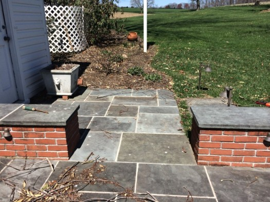 Small entrance patio