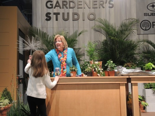 I had an assistant to help me with my demo on miniature gardens