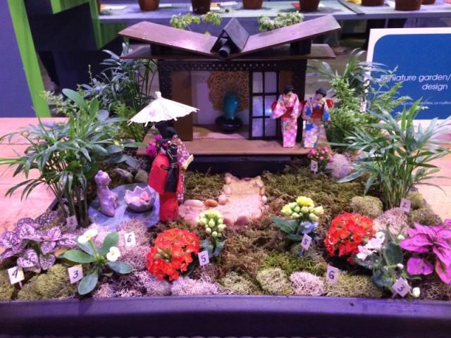 Japanese miniature garden