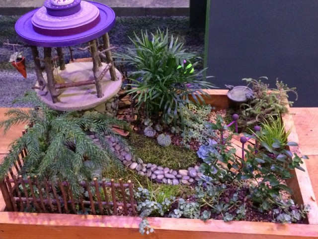 Mini garden with gazebo