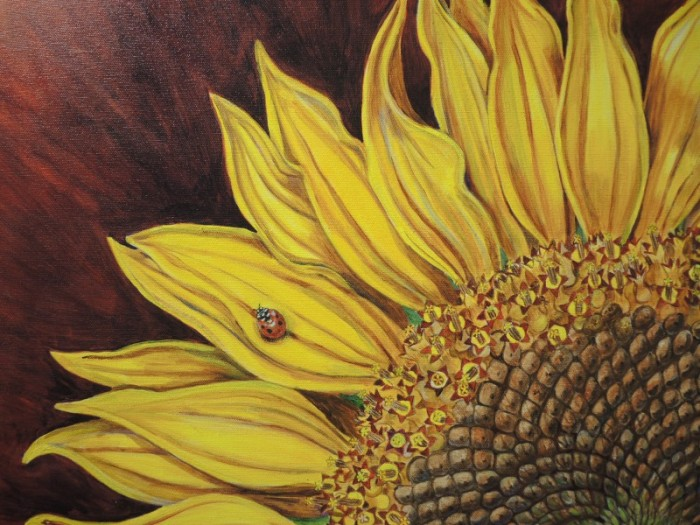 Sunflower painting by Redenta Soprano