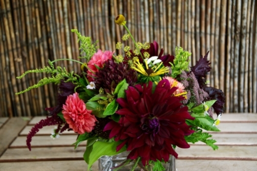 Dahlias play a big part of Sarah's arrangements-permission of Sarah